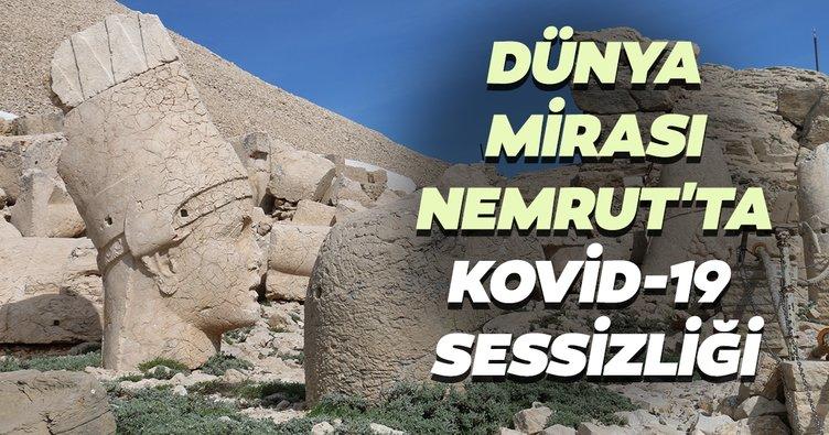 Dünya mirası Nemrut'ta Kovid-19 sessizliği