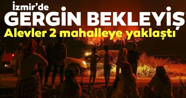 Son dakika haberi: İzmir'deki orman yangını iki mahalleye yaklaştı!