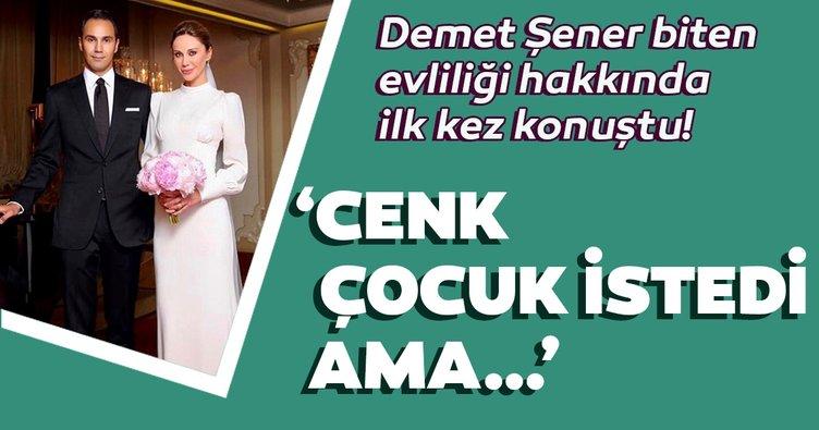 Demet Şener biten evliliği hakkında ilk kez konuştu!