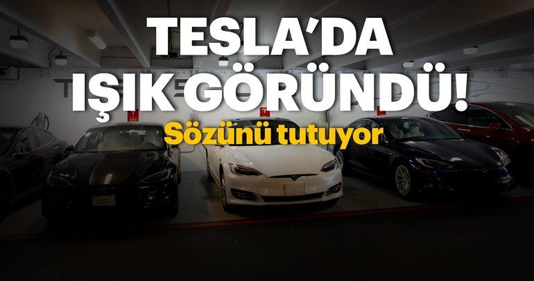Tesla hedefine yaklaşmaya başladı