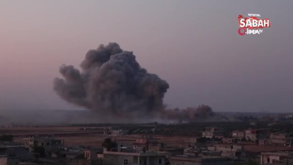 Rus savaş uçaklarından İdlib'e hava saldırısı: 4 ölü | Video