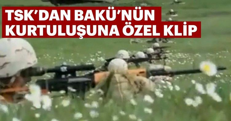TSK'dan Bakü'nün kurtuluşuna özel klip