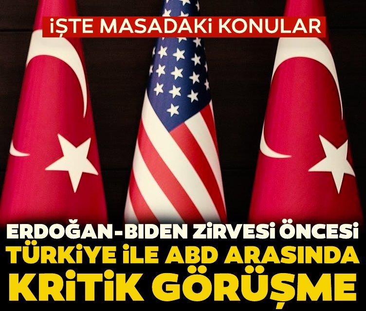 Türkiye ile ABD arasında kritik temas! F-35'ler ve Erdoğan-Biden Zirvesi de konuşuldu...