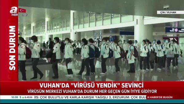 Çin'de corona virüsün ortaya çıktığı yerde kutlama | Video