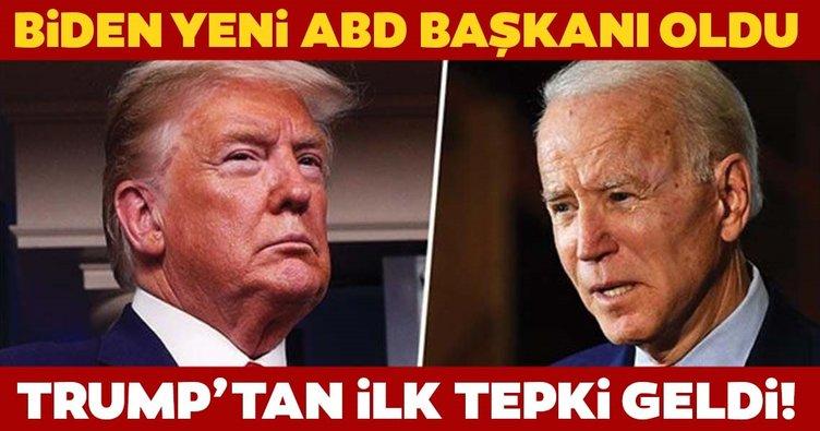 Joe Biden yeni ABD Başkanı oldu! Son dakika: Trump'tan 'Oylarımız uçuruldu' tepkisi