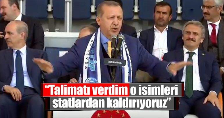 Cumhurbaşkanı Erdoğan açıkladı: Talimatı verdim, statların adı değişiyor