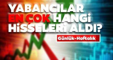 Borsa İstanbul'da günlük-haftalık yabancı payları 20/08/2020