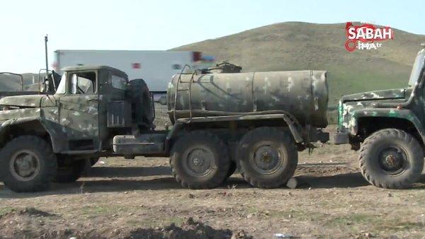 Fuzuli ve Cebrayıl'de Ermenistan'dan ele geçirilen askeri teçhizat ve araçlara ait görüntüler paylaşıldı | Video
