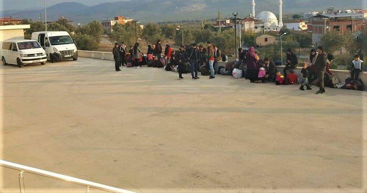 Balıkesir'de 36kaçak göçmen ile 1organizatör yakalandı