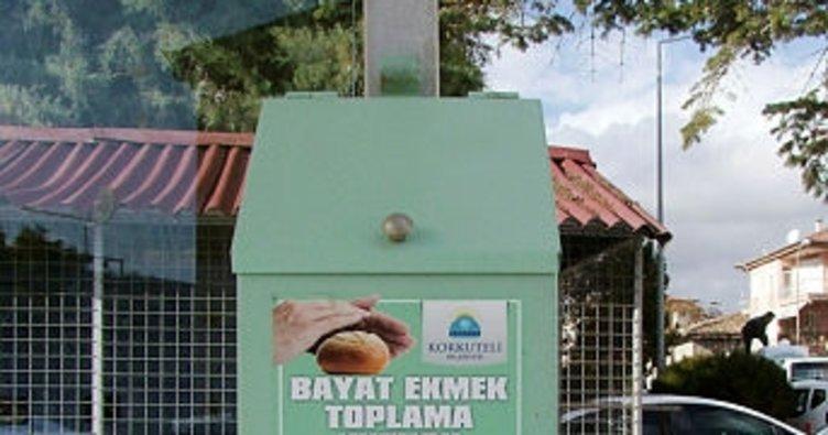 Korkuteli'de bayat ekmek uygulaması