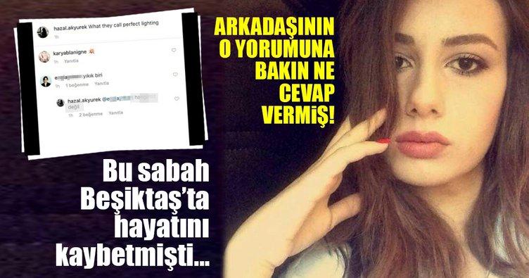 Beşiktaş'tan balkondan düşen Hazal Akyürek'in ölmeden önceki son fotoğrafı ortaya çıktı