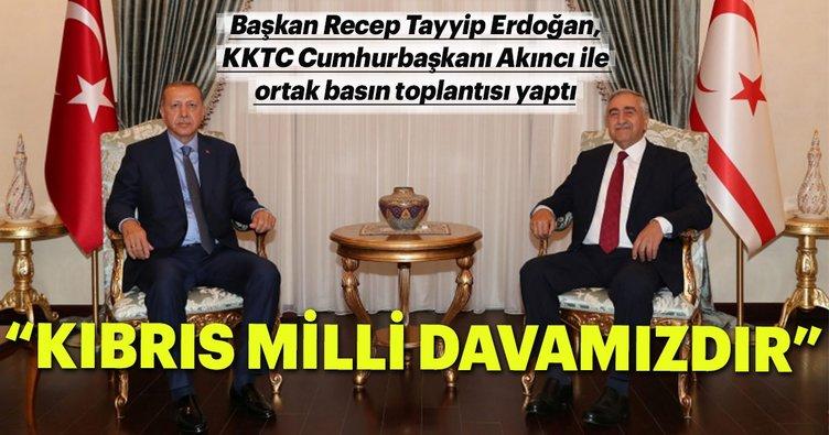 Son dakika: Başkan Erdoğan: Kıbrıs milli davamızdır