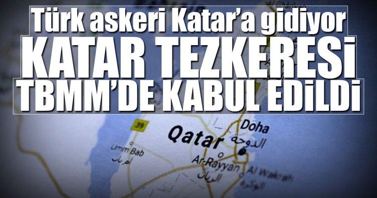 Katar tezkeresi TBMM'de kabul edildi