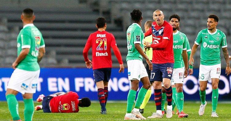 Lille şampiyonluk şansını son haftaya bıraktı! PSG puan farkını 1'e indirdi...