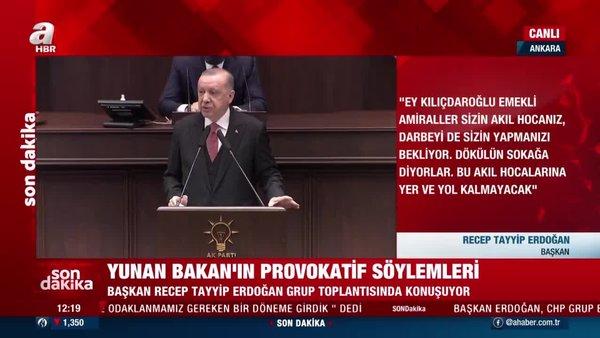 Cumhurbaşkanı Erdoğan'dan küstah Yunan Bakan Dendias'a  haddini bildiren Bakan Çavuşoğlu'na teşekkür açıklaması