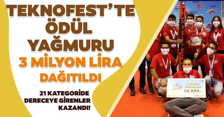 Teknofest'te yarışmalarda dereceye girenlere 3 milyon TL'den fazla ödül verildi