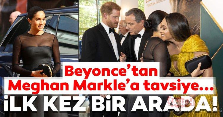 Meghan Markle ve Beyonce ilk kez bir arada görüntülendi! Beyonce'tan Markle'a tavsiye...