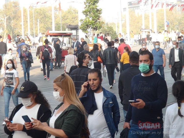 Sıcak havayı gören virüs dinlemedi! İstiklal Caddesi ve Taksim Meydanı'nda koronavirüs unutuldu