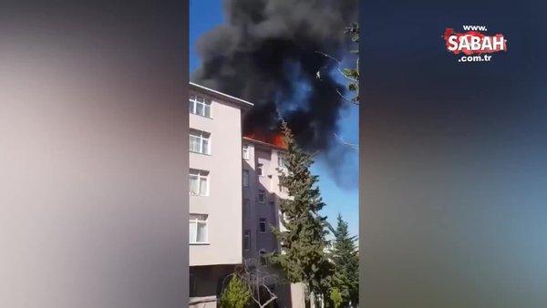 İzolasyon çalışması sırasında yangın çıktı | Video