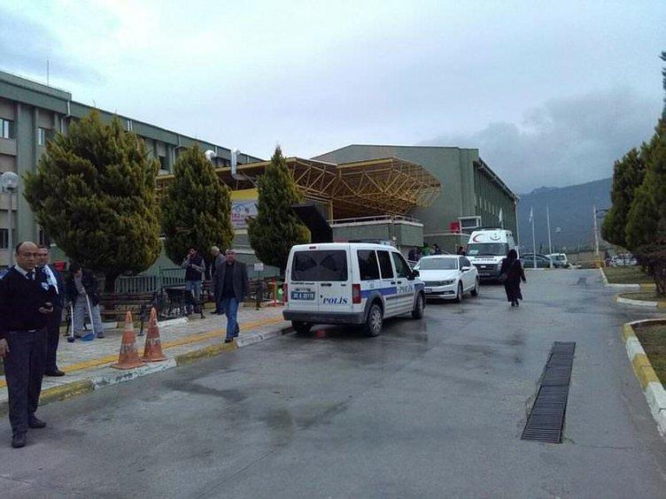 Denizli'de hastanede oksijen tüpü patladı