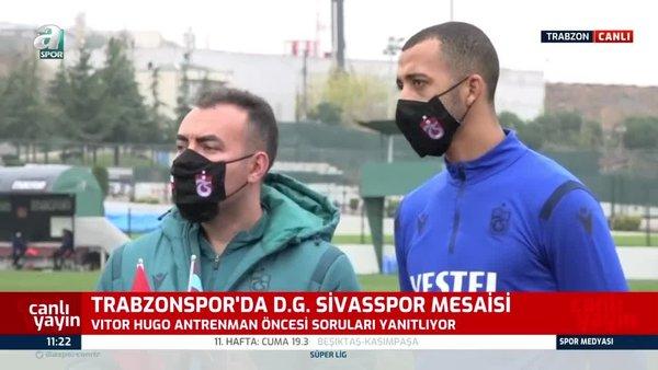 Trabzonspor'da Vitor Hugo'dan itiraf!