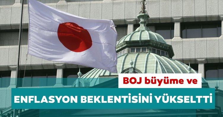 Japonya Merkez Bankası büyüme ve enflasyon beklentilerini yükseltti