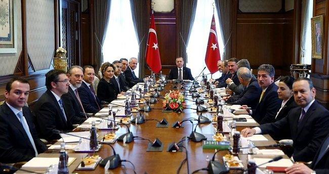 Cumhurbaşkanı Erdoğan, TÜSİAD üyelerini kabul etti