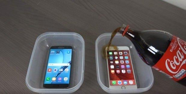Galaxy S7 Edge ve iPhone 6S Plus kola testi!