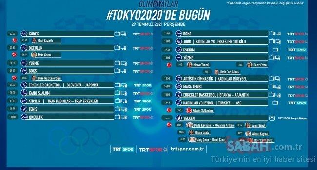Tokyo 2020 Olimpiyat Programı: Tokyo Yaz Olimpiyatları'nda bugün hangi maçlar var? 29 Temmuz TRT Spor yayın akışı