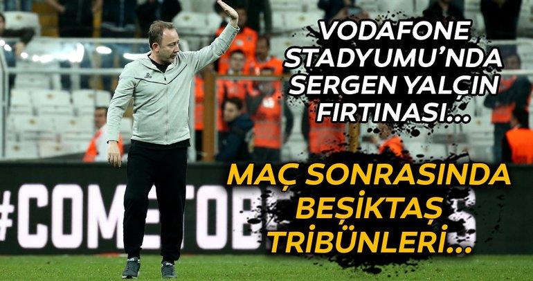 Beşiktaş tribünlerinde Sergen Yalçın fırtınası! Soyunma odasından döndü ve...