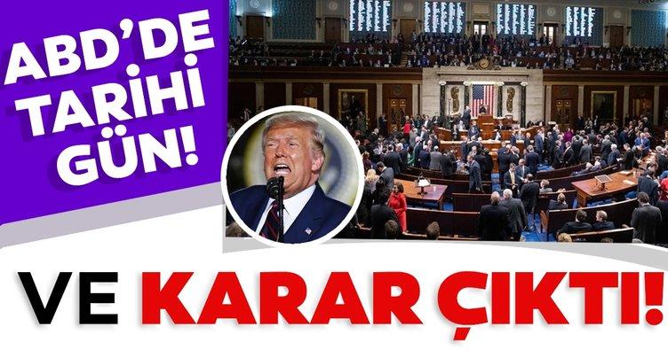 Son dakika: Trump'a büyük şok! Azil maddesi kabul edildi