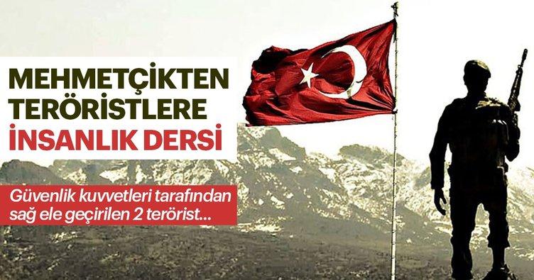 Mehmetçikten teröristlere insanlık dersi