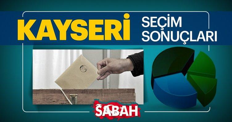Kayseri seçim sonuçları 2019 canlı takip et! 31 Mart ilçe ilçe Kayseri seçim sonuçları ve oy oranları burada!