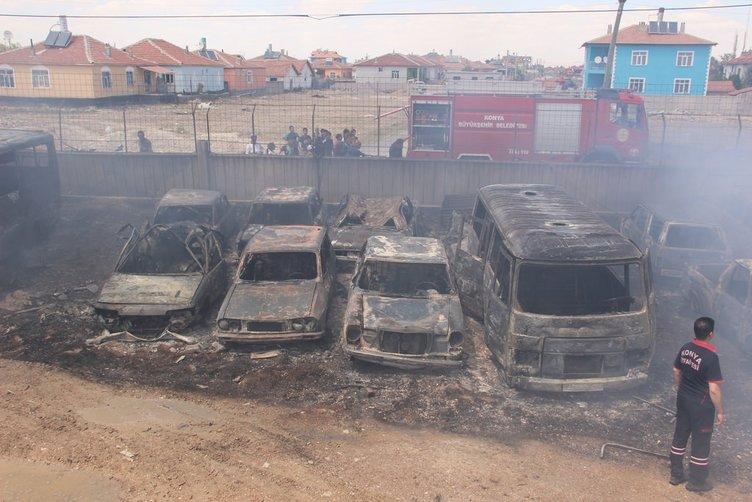Konya'da 70 araç küle döndü!