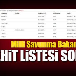 Şehit listesi sorgulama nasıl yapılır? - Milli Savunma Bakanlığı (MSB) ile şehitler listesi hemen sorgula!