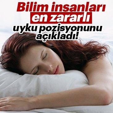 Bilim insanları en zararlı uyku pozisyonunu açıkladı!