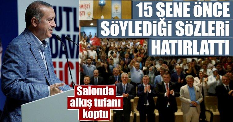 Erdoğan: Ben temel atmaya değil açılışlara geleceğim demiştim