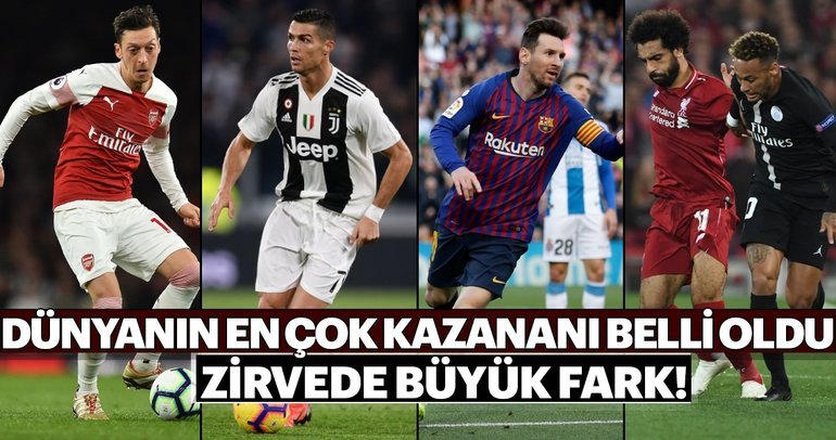 İşte dünyanın en çok kazanan futbolcuları