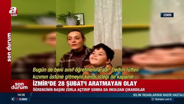 İzmir'de 28 Şubat'ı aratmayan skandal olay! Başörtülü öğrenciyi okula almadılar | Video