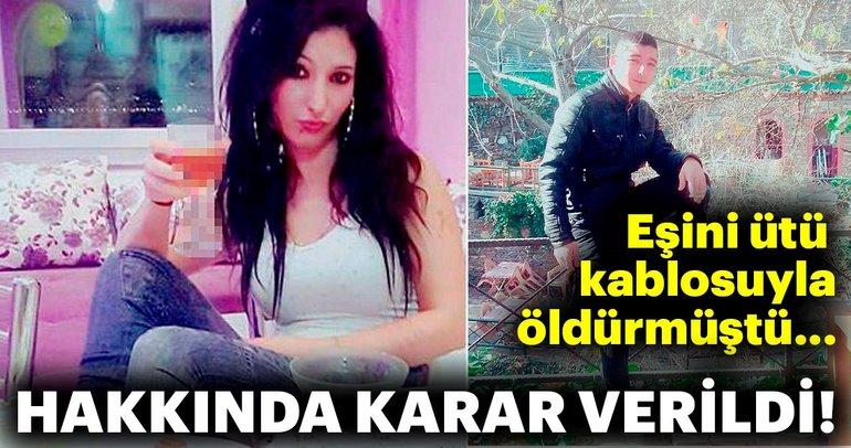 Eşini ütü kablosuyla boğup, bıçakla öldüren kocaya 21 yıl hapis