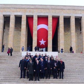 Galatasaray'dan Anıtkabir'e ziyaret