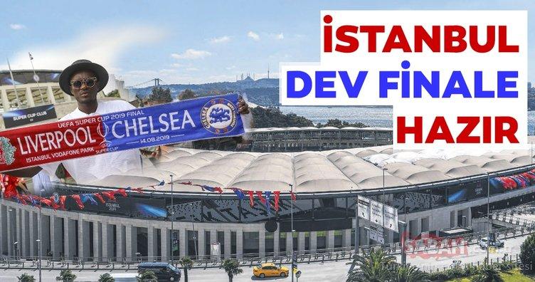 İstanbul karnaval alanına döndü! Chelsea ve Liverpool taraftarı maç saatini bekliyor