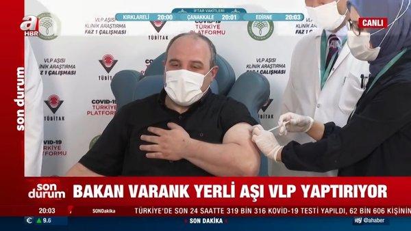 Bakan Varank'tan yerli koronavirüs aşısının FAZ-1 aşamasına gönüllü katılım!   Video