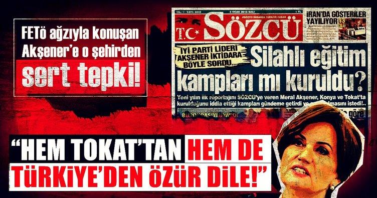 FETÖ ağzıyla konuşan Akşener'e o şehirden sert tepki!