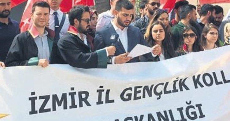 AK gençlerden Yair'e kınama