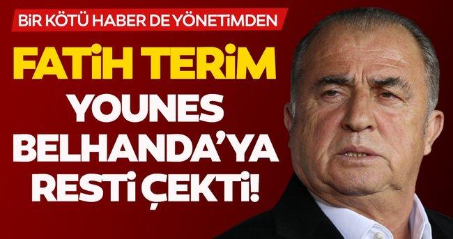 Son dakika: Galatasaray'da Fatih Terim, Belhanda'ya resti çekti! Bir kötü haber de yönetimden