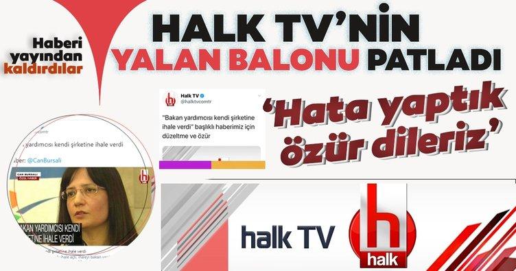 Halk TV'nin balonu elinde patladı! 'Hata yaptık, özür dileriz'