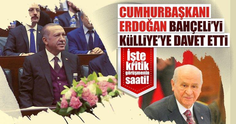 Cumhurbaşkanı Erdoğan'dan Bahçeli'ye davet!