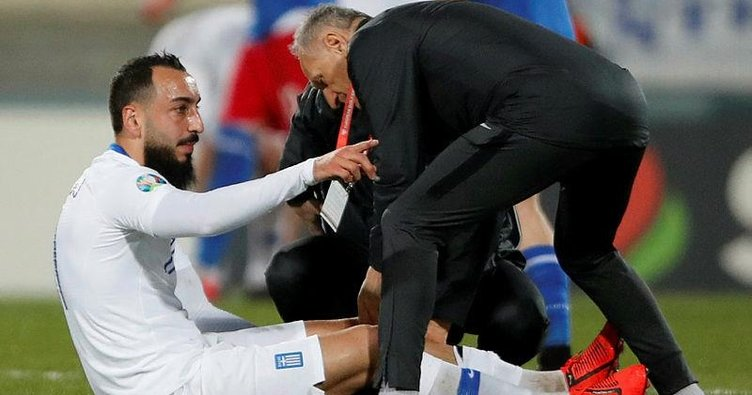 Kostas Mitroglou milli maçta sakatlandı