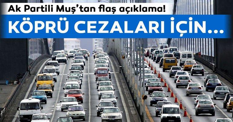 AK Partili Muş'tan flaş açıklama! Köprü cezalarının iptali için...